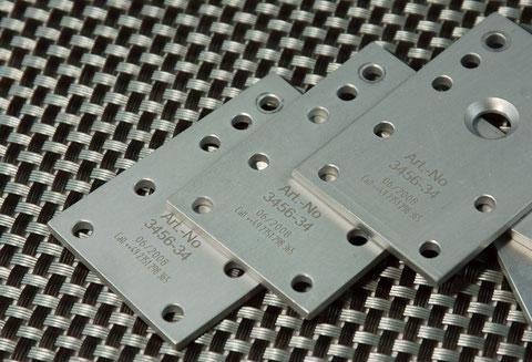 LaserGravur Metalloberfläche aluminium