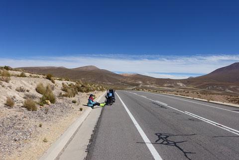 Route pass colchane-pisiga
