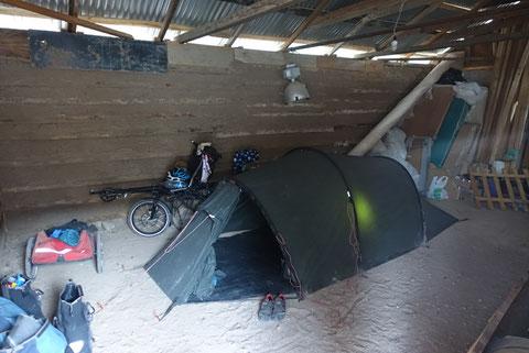 Spot camping dans une maison
