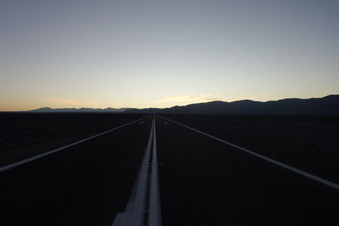Route a l aube