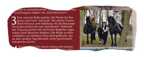 Artikel in der Pferdplus (6/2013) über die aussergewöhnliche Hochzeit von Babsi und Franz