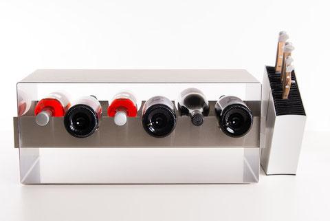 Weinregal Grand Cru – reduziertes Design für die Küche