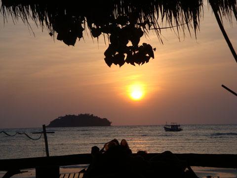 Koh Chang, Coucher de Soleil sur Kai Bae Beach