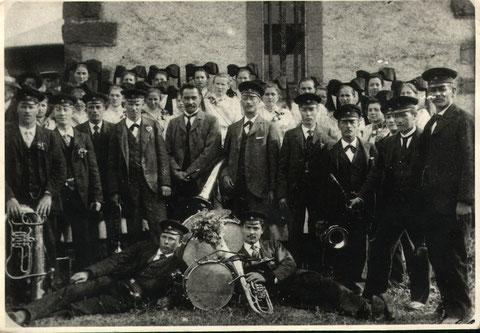 Jahr 1904 - Musikfest auf der Hohen Flum