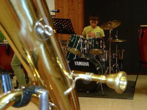 Am Zöglings-Infoabend können alle Instrumente ausprobiert werden...