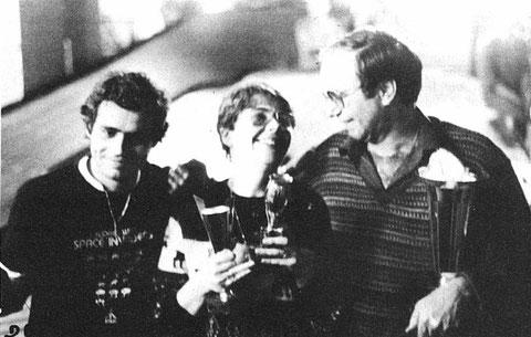 Pudium du Grand Prix de France : Philippe Thibault (2) Marie-Odile ( Mari-Lou ) Michel (3) Jean-Pierre Sutter (1)