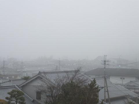 霧で真っ白!!