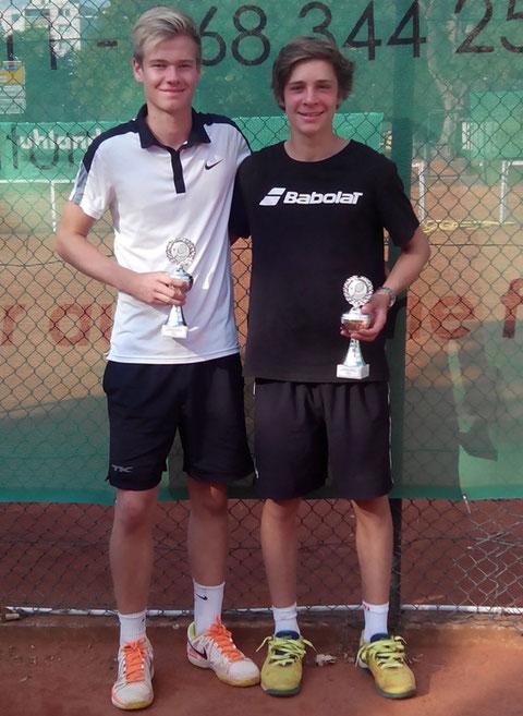 Erfolgreiches Duo: Tim Luther (DSC 99) mit seinem Doppelpartner Philipp Gleich (TC 13)