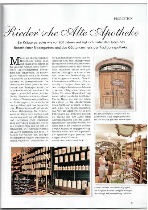 PR für Alte Apotheke Rosenheim Text & Fotos Bultje-Herterich April 2013