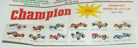 Los bólidos de Fórmula 1 que copiará Guisval para la serie Campeón. Clic en la imagen de abajo para agrandar.
