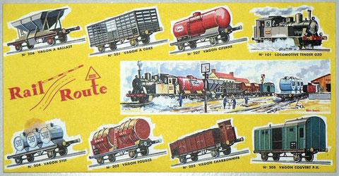 Catálogo original de los trenes de Rail Route. Cortesía de René Palomino (Francia).