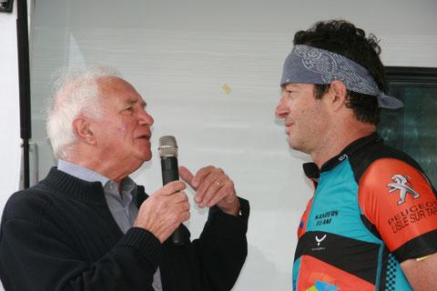 Jean Paul Ollivier interviewe l'ancien professionnel Gilles Sanders