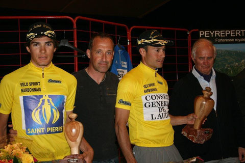 Robin Christophe, Luc Leblanc, Alexandre Cabrera et Jean Paul Ollivier