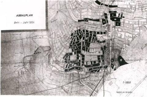 Abbauplan für das Jahr 1954