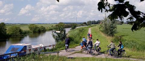 Wandern und Radfahren Friesland