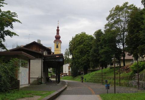 Der historische Zugbahnhof Tarvis-Stadt