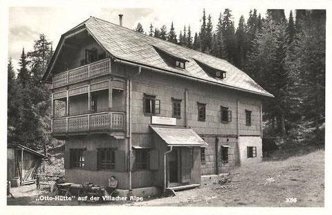 Die Ottohütte am Dobratsch in den 1930er Jahren