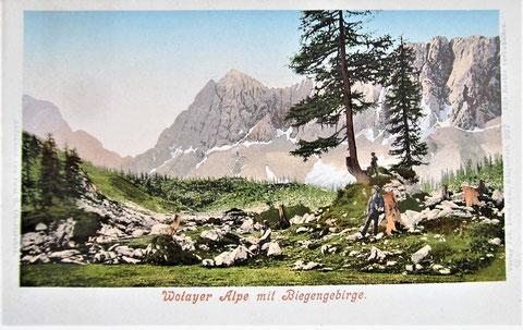 Wolayersee, Ansichtskarte, Karnische Alpen