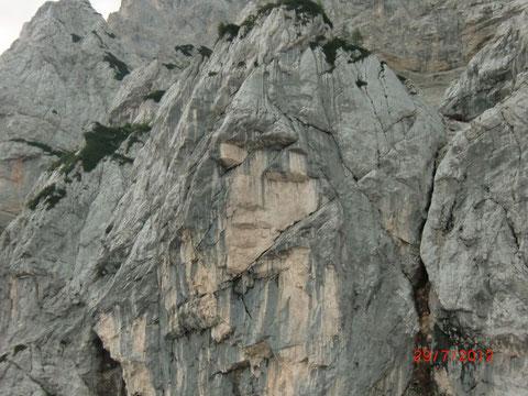 JJulische Alpen, Prisank Klettersteig, Fenster, Hanzasteig