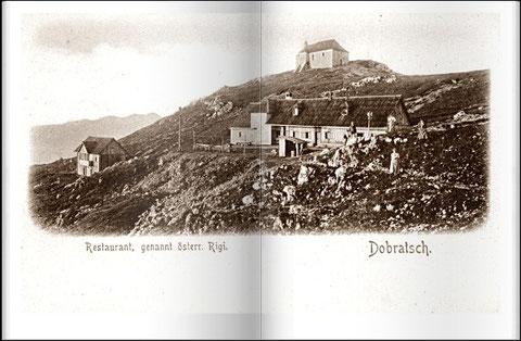 Dobratschgipfel 1898 - schon damals berühmtes und vielbesuchtes Ausflugsziel