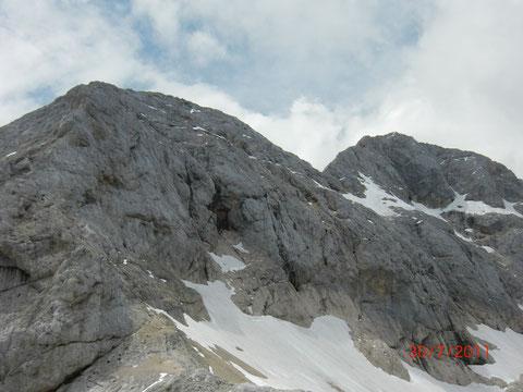 Kleiner Triglav (Mali Triglav) 2.725m, Großer Triglav 2.864m
