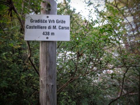 Castelliere di Monte Carso, Alpe Adria Trail, Rosandratal