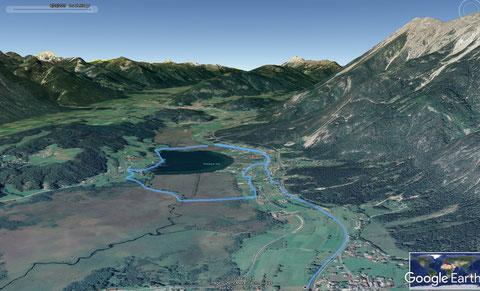Streckenaufzeichnung Slow Trail Pressegger See bei Hermagor im Gailtal