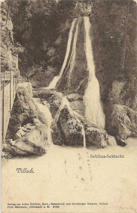 Schlitzaschlucht, Wasserfall