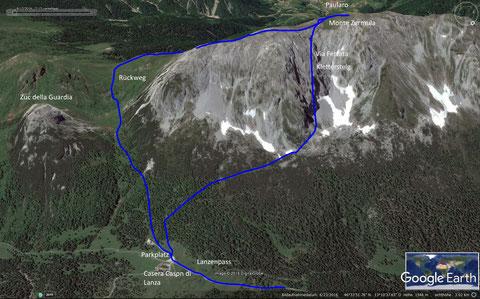 Monte Zermula, Klettersteig, wandern