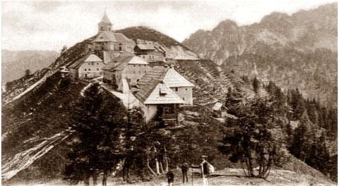3 Pilger am Luschariberg im Jahre 1898 (damals Kärnten)