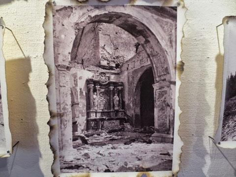 Luschariberg, Maria Luschari zerstört, 1. Weltkrieg
