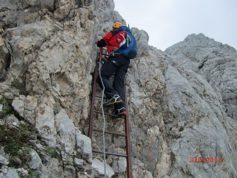 Hohe Ponza, Julische Alpen, Rifugio Zacci Hütte, Klettersteig
