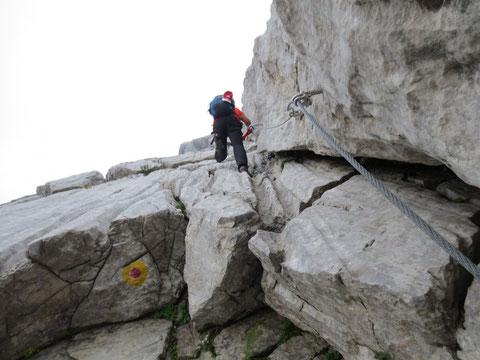 Klettersteig Soca Quelle : Monte zermula 2.143m unterwegs im dreiländereck Österreich