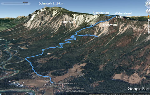 Dobratsch, Villacher Alpe, Wanderwege, Schütt, Bergsturz