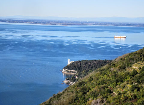 Miramare, Triest, Alpe Adria Trail, Napoleonsstraße, Strada Vicentina