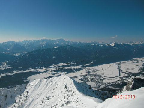 Skitour, Dobratsch, Villacher Alpe, Gipfel, Schneeschuh, Wandern, Winter, Heiligengeist, Gipfelhaus