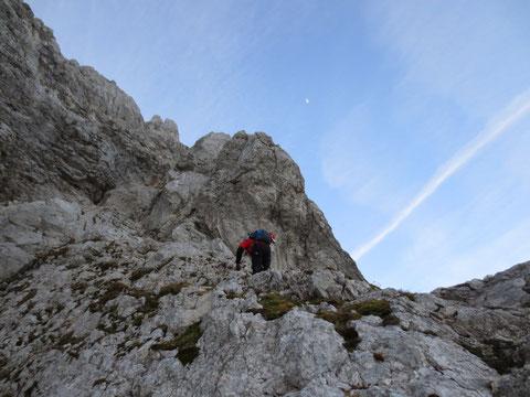Julische Alpen, Mangart, Klettersteig