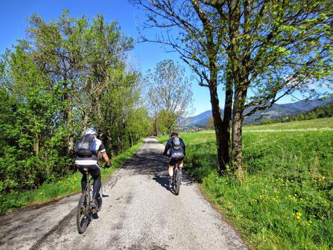 Auf dem Gailtalradweg Richtung Nötsch