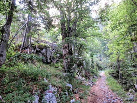 Sella Prevala Scharte, Sella Nevea, Julische Alpen, Gilberti Hütte
