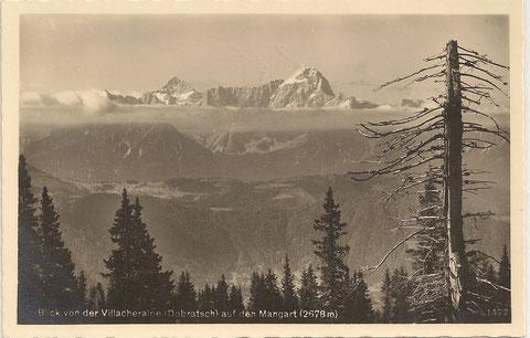 Blick von der Villacheralpe (Dobratsch) auf Jalovec und Mangart