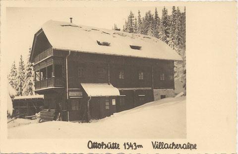 Die Ottohütte am Dobratsch im Jahre 1932