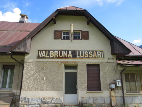 Der ehemalige Bahnhof Valbruna Lussari (Wolfsbach)