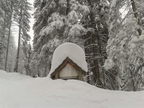 Luschariberg, Monte Lussari, Pilgerweg, Büßerweg, Skitour