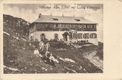 Das 1907 erbaute, 2010 durch das neue Gipfelhaus ersetzte Ludwig-Walterhaus stand 103 Jahre am Dobratschgipfel