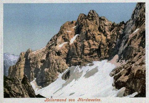 Das Eiskar an der Kellerwand ist der südlichste Gletscher Österreichs.