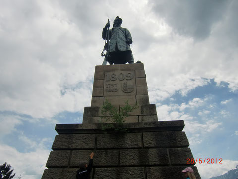 Tarvis, Schlitzaschlucht, Kriegerdenkmal
