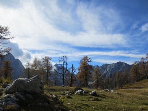 Eines der beliebtesten Fotomotive der Julischen Alpen - der Blick zum Jalovec
