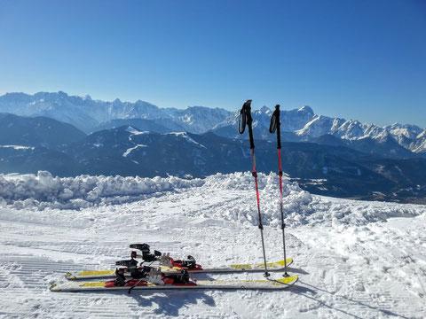 Dobratsch, Villacher Alpe, Skitour, Zehner, Heiligengeist, Gipfel