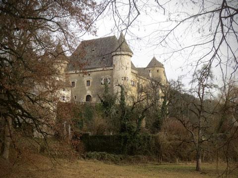 Kraiger Schlösser, Schloss Frauenstein, wandern, Weg