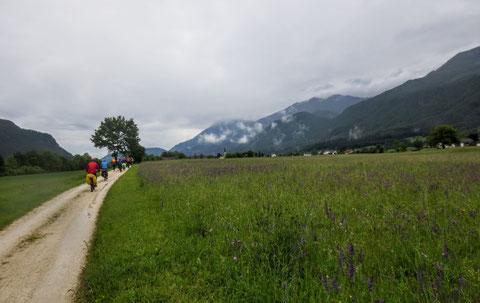 Langsam lässt der Regen nach und wir fahren durch die wunderbare Kärntner Landschaft des Rosentales